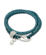 Unique & Co Ladies Truly Teal Leather Bracelet B221TT - Hamilton & Lewis Jewellery