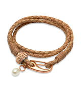 Unique & Co Ladies Natural Leather Bracelet B222NA - Hamilton & Lewis Jewellery