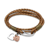 Unique & Co Ladies Bronze Leather Bracelet B232BR - Hamilton & Lewis Jewellery
