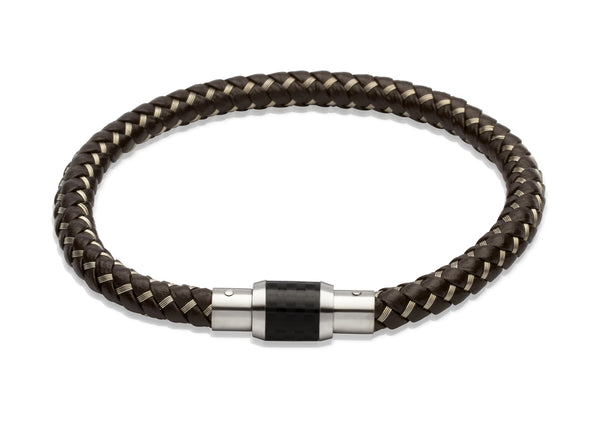 Unique & Co Dark Brown Steel Wire Bracelet B241DB - Hamilton & Lewis Jewellery