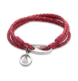 Unique & Co Ladies Antique Cyclamen Leather Bracelet B256ACY - Hamilton & Lewis Jewellery