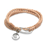 Unique & Co Ladies Natural Leather Bracelet B256NA - Hamilton & Lewis Jewellery