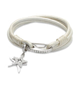 Unique & Co Ladies Pearl Leather Bracelet B257PE - Hamilton & Lewis Jewellery