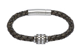 Unique & Co Antique Black Leather Bracelet B277ABL - Hamilton & Lewis Jewellery