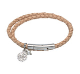 Unique & Co Ladies Natural Leather Bracelet B310NA - Hamilton & Lewis Jewellery