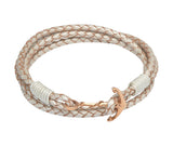 Unique & Co Ladies Pearl Leather Bracelet B312PE - Hamilton & Lewis Jewellery
