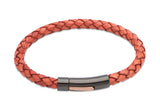 Unique & Co Antique Tan Leather Bracelet B320ATA - Hamilton & Lewis Jewellery