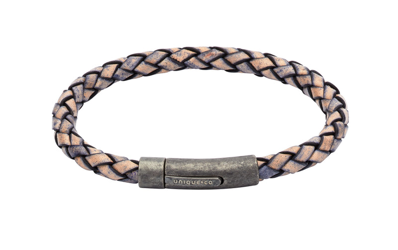 Unique & Co Antique Pacific Leather Bracelet B322AP - Hamilton & Lewis Jewellery
