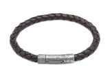 Unique & Co Antique Black Leather Bracelet B322ABL - Hamilton & Lewis Jewellery