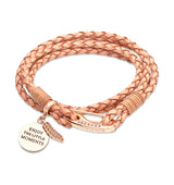 Unique & Co Ladies Natural Leather Bracelet B332NA - Hamilton & Lewis Jewellery