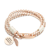 Unique & Co Ladies Pearl Leather Bracelet B332PE - Hamilton & Lewis Jewellery