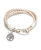 Unique & Co Ladies Pearl Leather Bracelet B337PE - Hamilton & Lewis Jewellery