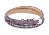 Unique & Co Ladies Berry Leather Bracelet B342BE - Hamilton & Lewis Jewellery