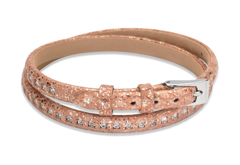 Unique & Co Ladies Natural Leather Bracelet B342NA - Hamilton & Lewis Jewellery