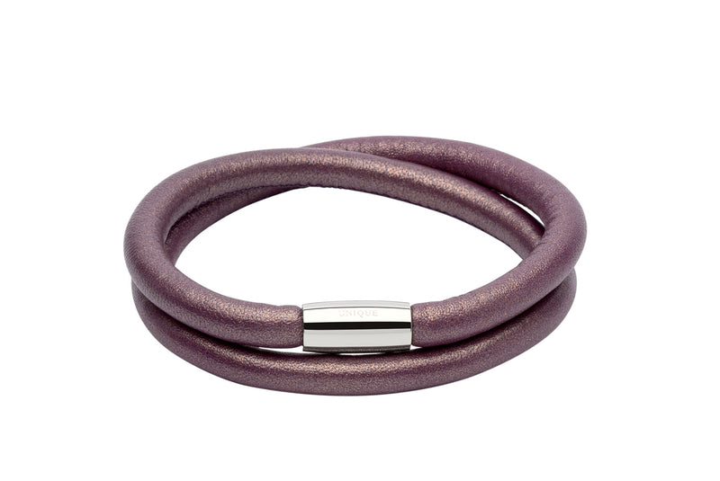 Unique & Co Ladies Berry Leather Bracelet B353BE - Hamilton & Lewis Jewellery