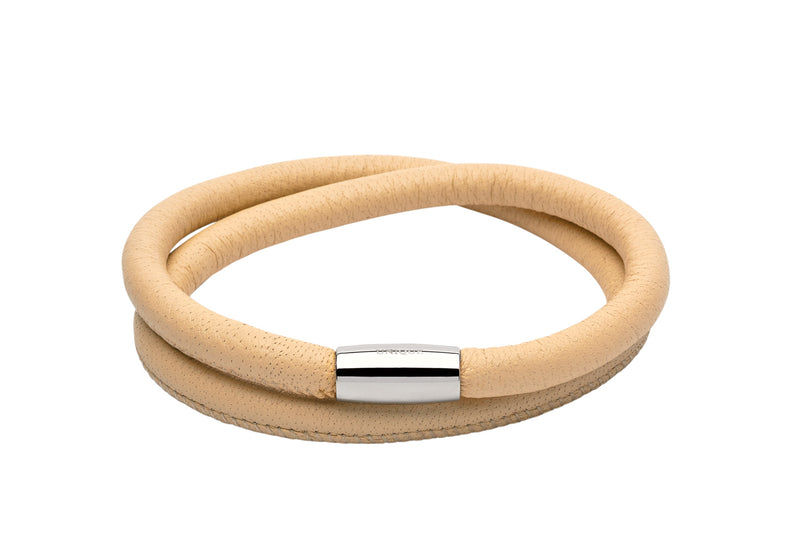 Unique & Co Ladies Ivory Leather Bracelet B353IV - Hamilton & Lewis Jewellery