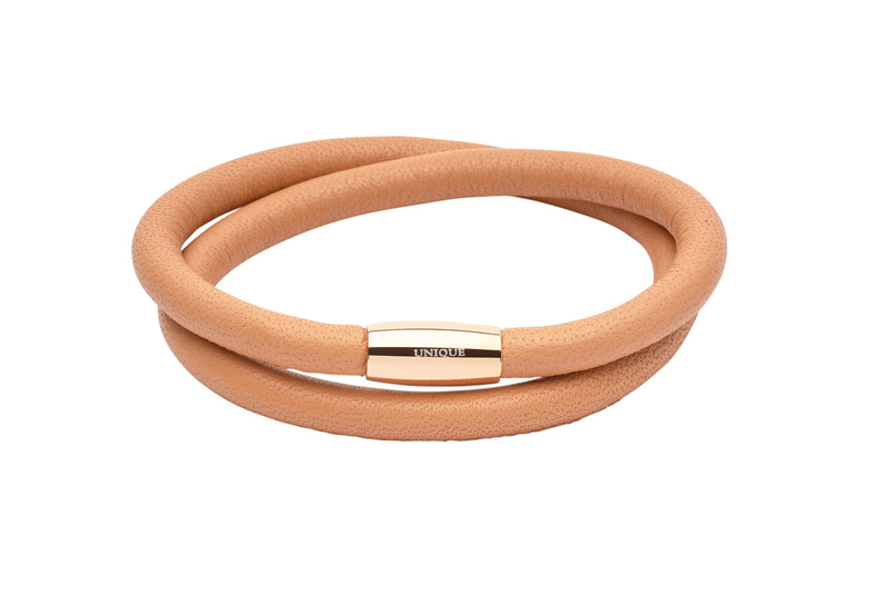 Unique & Co Ladies Sand Leather Bracelet B354SA - Hamilton & Lewis Jewellery