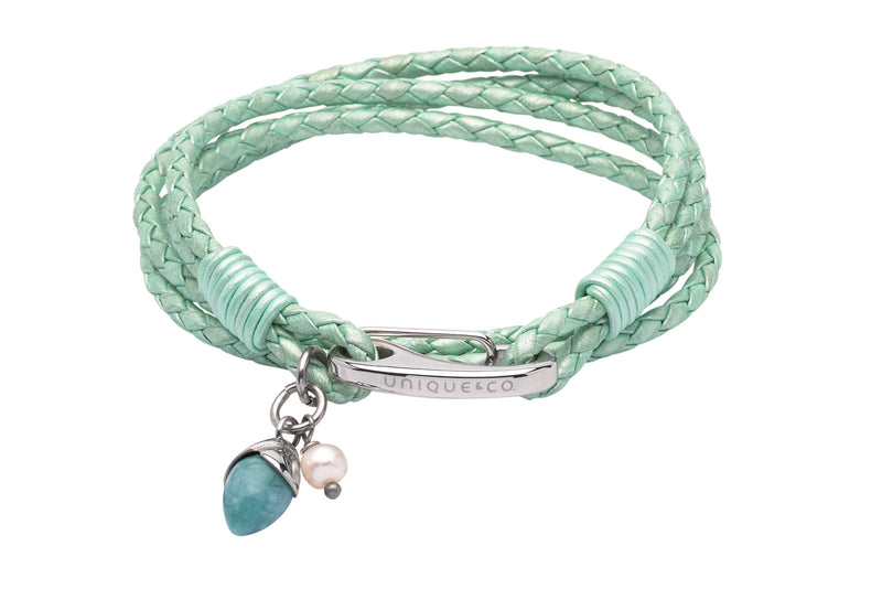 Unique & Co Ladies Oasis Turquoise Leather Bracelet B365OT - Hamilton & Lewis Jewellery