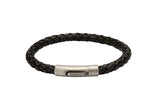 Unique & Co Black Leather Bracelet B370BL - Hamilton & Lewis Jewellery