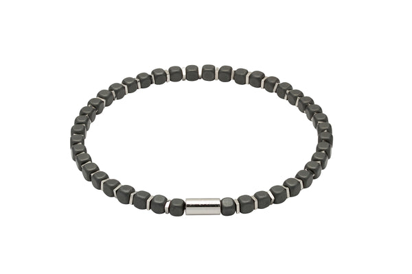 Unique & Co Matte Black Hematite Bead Bracelet B386BL - Hamilton & Lewis Jewellery