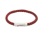 Unique & Co Antique Red Leather Bracelet B400ARE - Hamilton & Lewis Jewellery