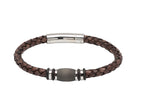 Unique & Co Antique Dark Brown Leather Bracelet B401ADB - Hamilton & Lewis Jewellery