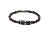 Unique & Co Antique Black Leather Bracelet B403ABL - Hamilton & Lewis Jewellery