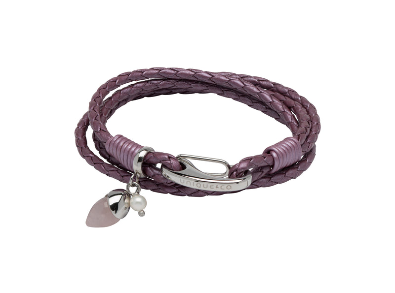 Unique & Co Ladies Fruit Punch Leather Bracelet B407FP - Hamilton & Lewis Jewellery