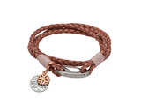 Unique & Co Ladies Antique Pink Leather Bracelet B411API - Hamilton & Lewis Jewellery