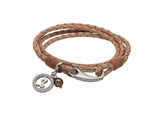 Unique & Co Ladies Natural Leather Bracelet B413NA - Hamilton & Lewis Jewellery