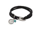 Unique & Co Ladies Black Leather Bracelet B418BL - Hamilton & Lewis Jewellery
