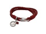 Unique & Co Ladies Moroccan Red Leather Bracelet B424MR - Hamilton & Lewis Jewellery