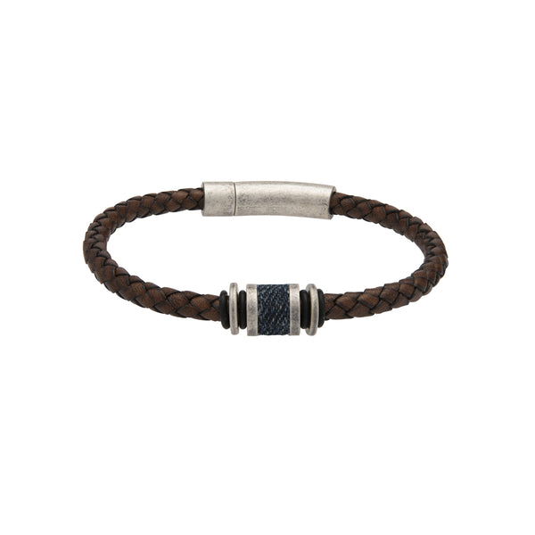 Unique & Co Antique Dark Brown Leather Bracelet B427ADB
