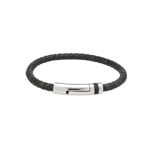 Unique & Co Antique Black Leather Bracelet B428ABL