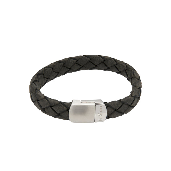 Unique & Co Antique Black Leather Bracelet B434ABL