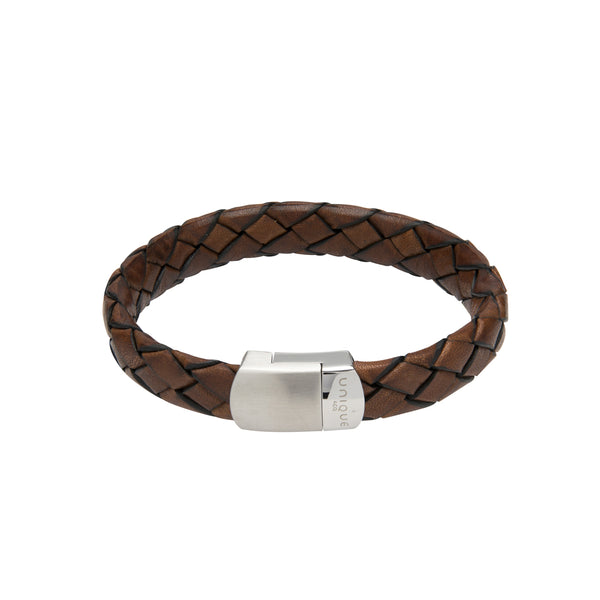 Unique & Co Antique Dark Brown Leather Bracelet B434ADB