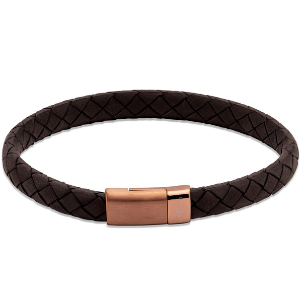 Unique & Co Black Leather Bracelet B455BL - Hamilton & Lewis Jewellery