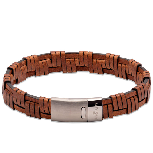Unique & Co Antique Dark Brown Leather Bracelet B456ADB - Hamilton & Lewis Jewellery