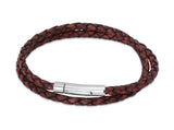 Unique & Co Antique Rust Leather Bracelet B62AR - Hamilton & Lewis Jewellery