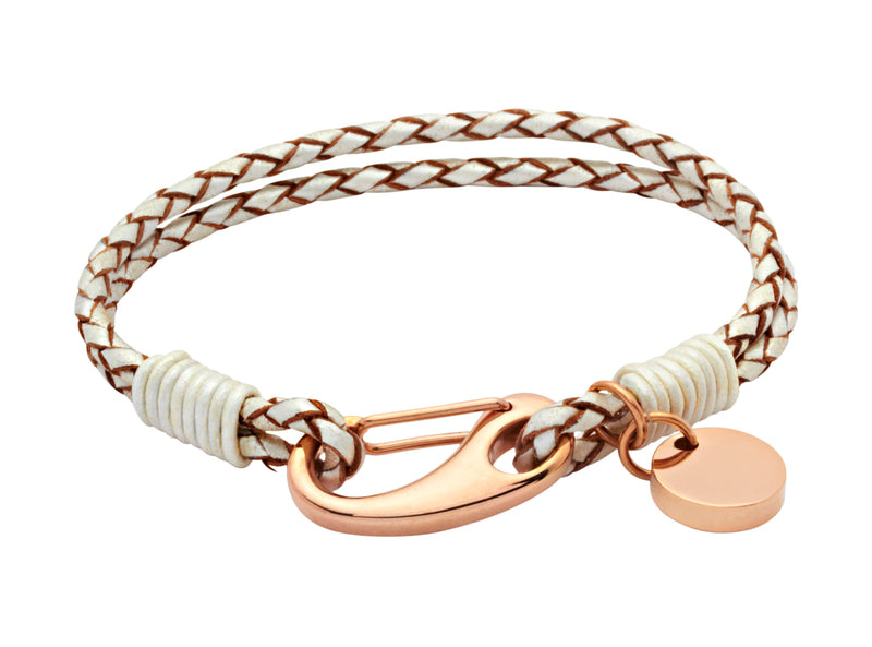 Unique & Co Ladies Pearl Leather Bracelet B64PE - Hamilton & Lewis Jewellery