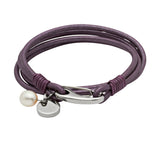 Unique & Co Ladies Berry Leather Bracelet B67BE - Hamilton & Lewis Jewellery