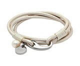 Unique & Co Ladies Pearl Leather Bracelet B67PE - Hamilton & Lewis Jewellery