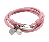 Unique & Co Ladies Pink Leather Bracelet B67PI - Hamilton & Lewis Jewellery
