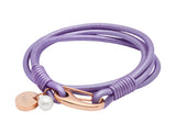 Unique & Co Ladies Lilac Leather Bracelet B76LY - Hamilton & Lewis Jewellery