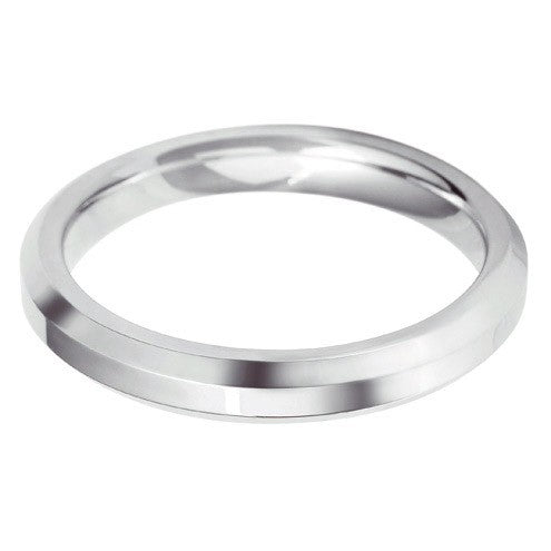3mm Classic Heavy Bevelled Edge Shape - Hamilton & Lewis Jewellery