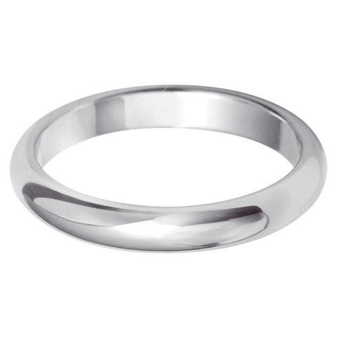 2.5mm Classic D Shape - Hamilton & Lewis Jewellery