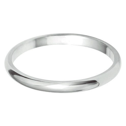 2mm Classic D Shape - Hamilton & Lewis Jewellery