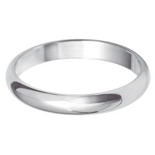 3mm Classic D Shape - Hamilton & Lewis Jewellery