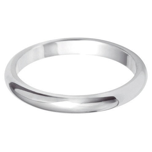 2.5mm Classic Heavy D Shape - Hamilton & Lewis Jewellery