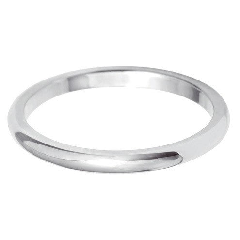 2mm Classic Heavy D Shape - Hamilton & Lewis Jewellery
